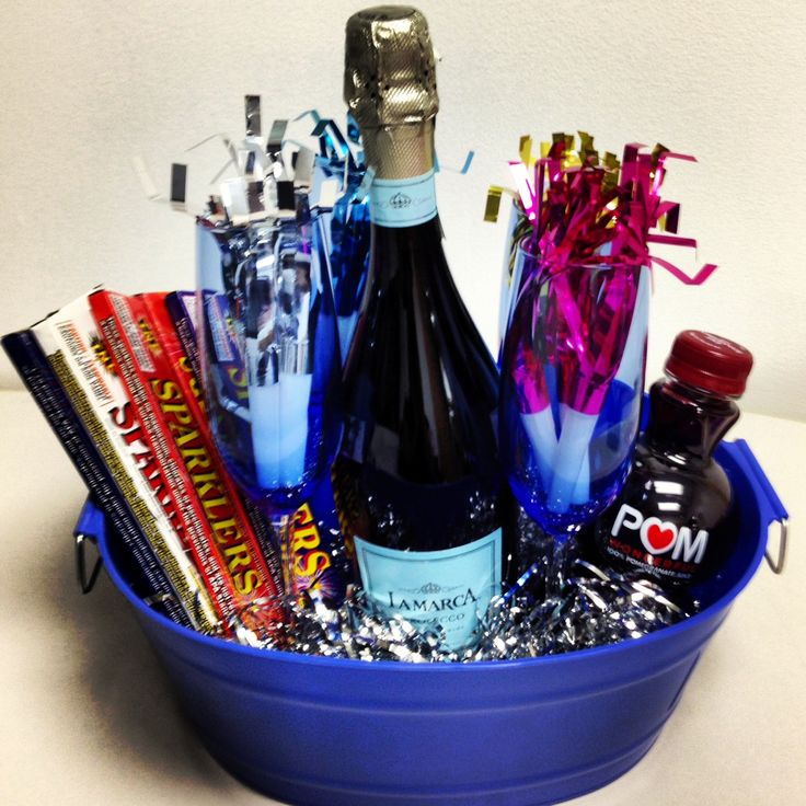 New Year's Eve Basket I created this as a hostess gift