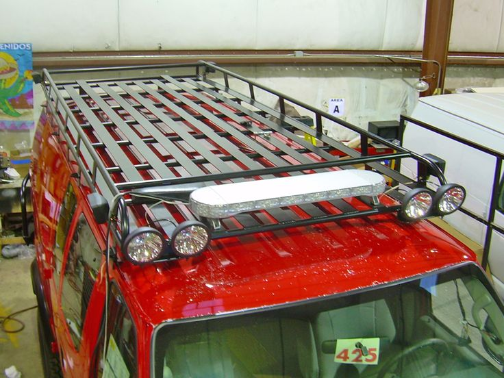 Aluminum Off Road Roof Rack For A Ford Econoline Van