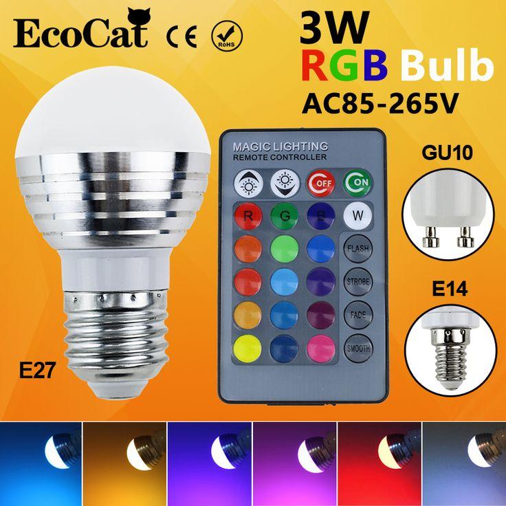 Superb LED RGB LED Birne E E GU lampe ACV V Watt LED RGB Spot