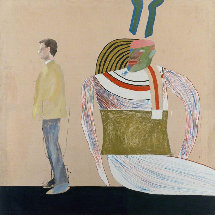 Man in a Museum (or You're in the Wrong Movie) by David Hockney British Council Collection Date painted: 1962 Oil on canvas, 147.3 x 152.4 cm