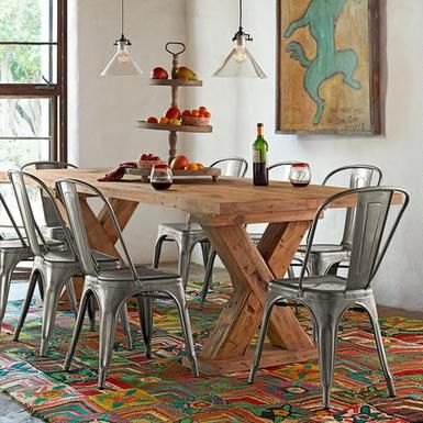 Metal Kitchen Chairs Target Under Chair Mat 1934 Dining By Tolix Apartment In 2019 Room
