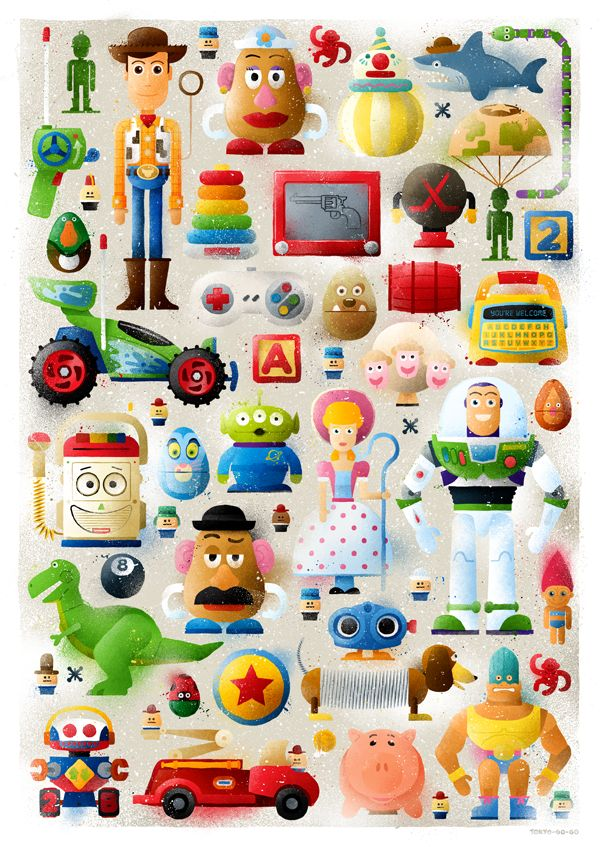 andy's toys: I am fond of them. I've watched Toy Story movies gazillion times for the past 7 years. For more to come! :D