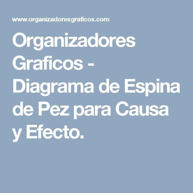 Organizadores Graficos - Diagrama de Espina de Pez para Causa y Efecto.