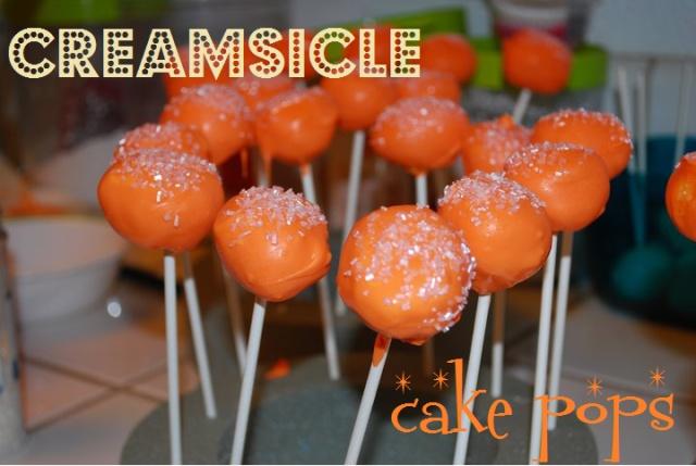 orange creamsicle cake pops