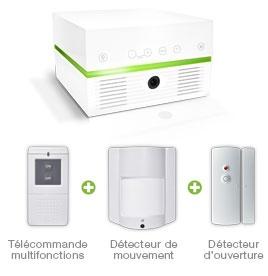 Détail du pack MyxyBox+ de Myxyty (sans caméra intégrée). Grâce à cette box domotique, sécurisez votre domicile, soyez alerté en temps réel de toute intrusion ou tentative d'intrusion, piloter votre maison depuis votre smartphone et partez en vacances l'esprit tranquille !       http://www.myxyty.com/myxybox/myxybox-plus-securite-alarme-domotique-controle-energie.php
