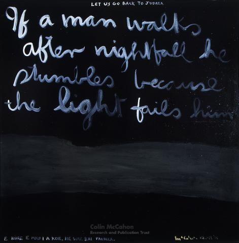 If a man walks after nightfall, 1969 - Colin McCahon