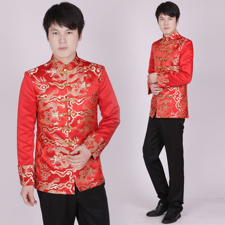Aliexpress.com : Buy Red Tunic Traditional Stand Collar Top Costume Male Embroidery Dragon Totem Blouse Ancient Costume Tunic from Reliable tunic dress tops suppliers on CC Fashion Tribes