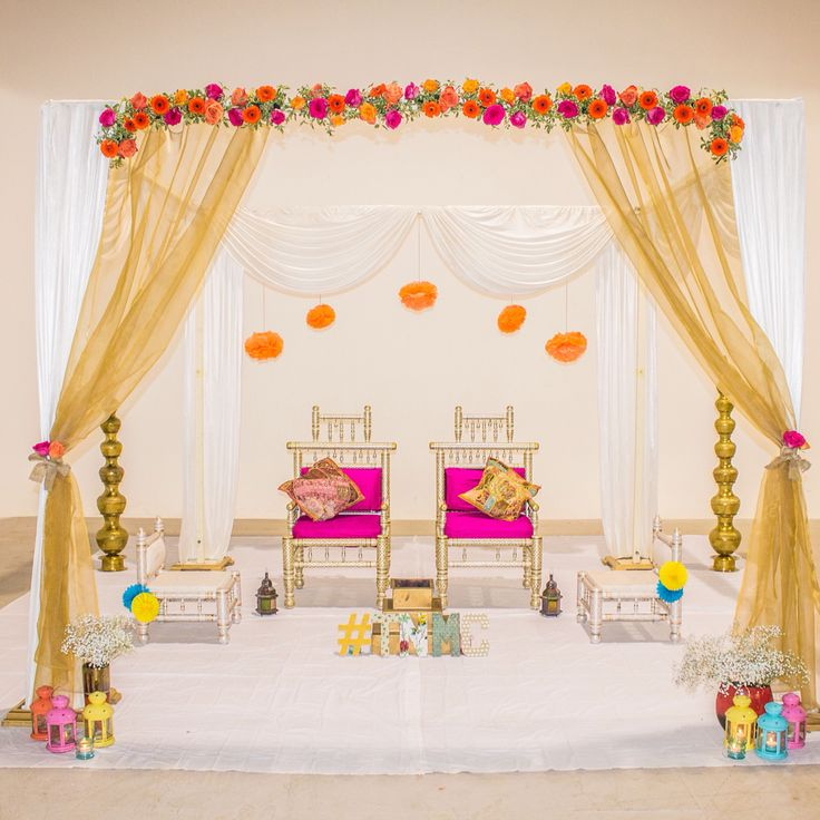 Beautifully Elegant Mandap By The Natural Mandap Company