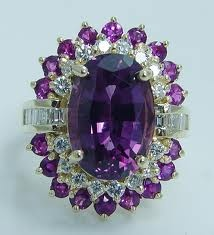 Not my style of jewelry but it does have lovely amethysts...