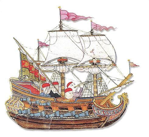 An Ottoman galleon, from Surname-i Vehbi, 1720