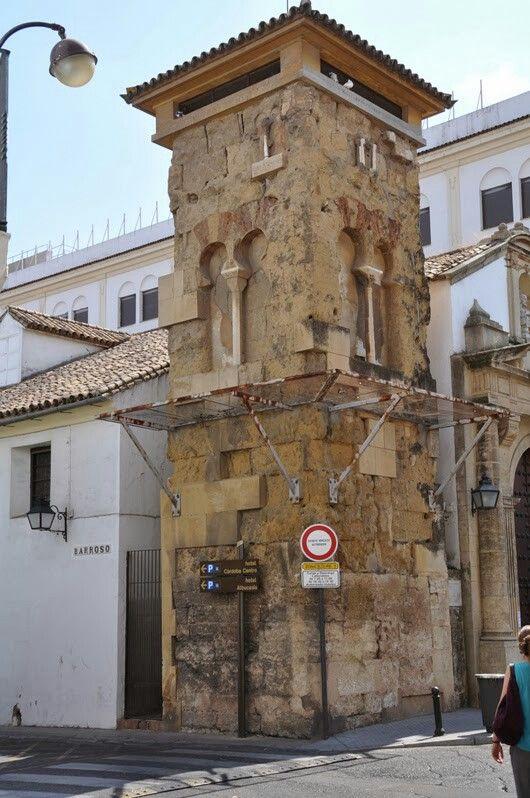 un des plus anciens minaret de Cordoue Calle Barroso. - Andalousie- Espagne