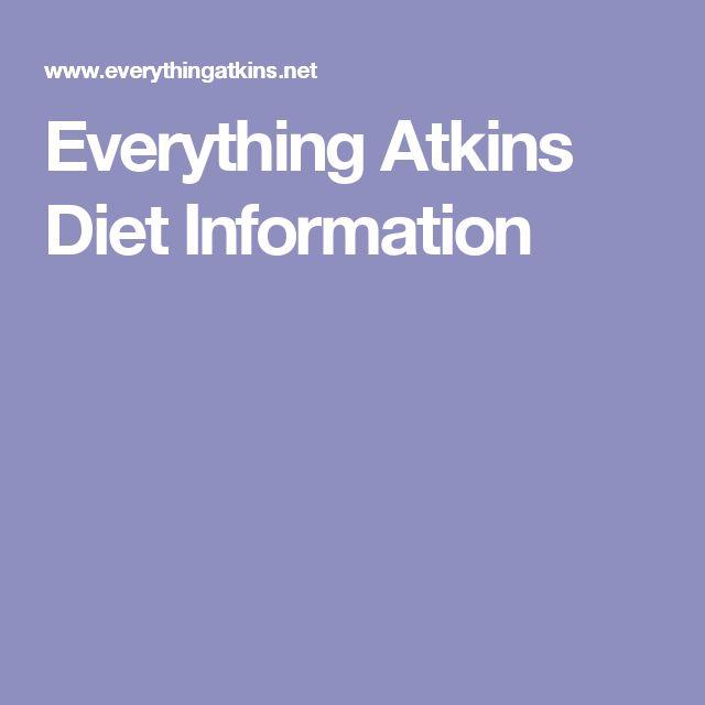 Everything Atkins Diet Information