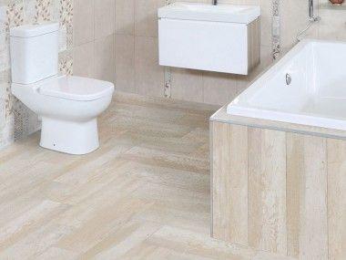 Lime Wash Wood Floor Tile