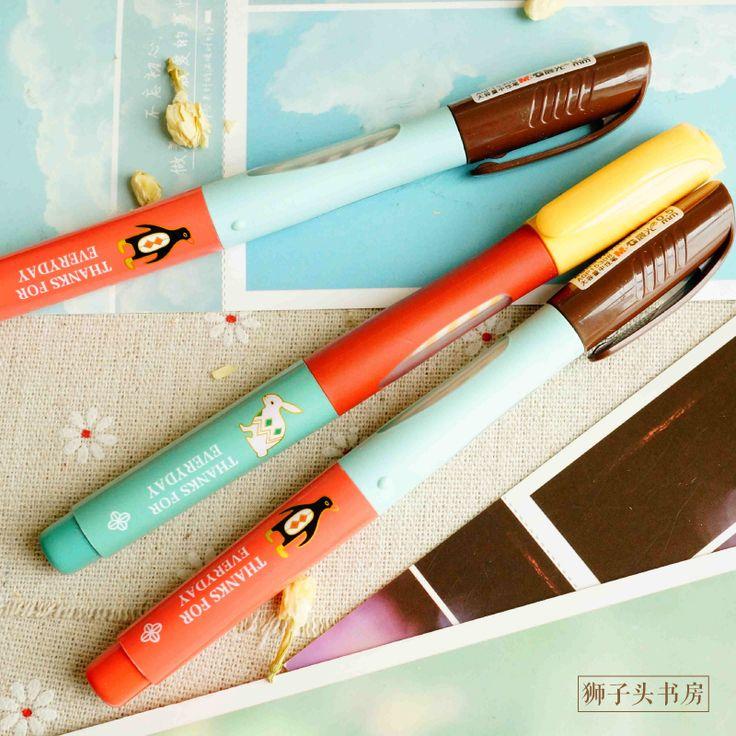 korea stationery unisex small fresh morning 0.35mm light pen black gel pen-inGel Pens from Office & School Supplies on Aliexpress.com | Alibaba Group