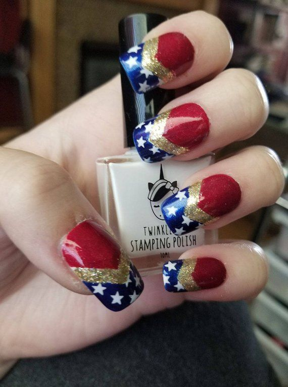 Wonder Woman Press On Nails Products In 2019 Wonder Woman