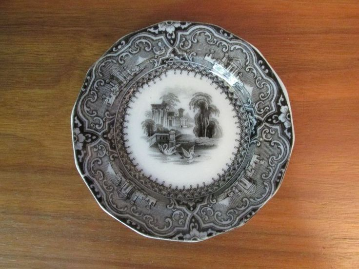 "Antique Flow Mulberry 4 1/4"" Cup Plate ""Athens"" Pattern 