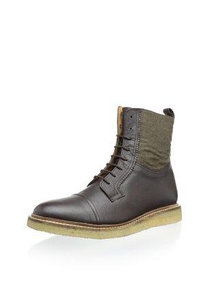 81% OFF Ben Sherman Men's Scott Cap Toe Boot (Dark Brown)