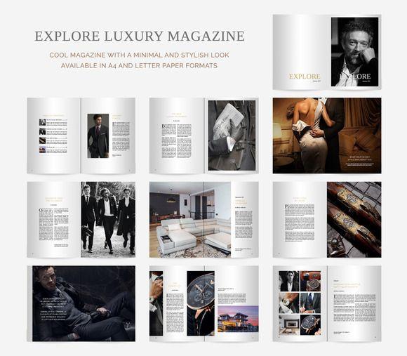 Explore Luxury Magazine by ShakeDesign on @creativemarket