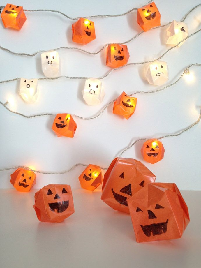 #DIY Origami #Halloween lights to brighten up your haunted house!