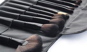 Groupon -  32 pinceaux de maquillage professionnels - étui de transport inclus