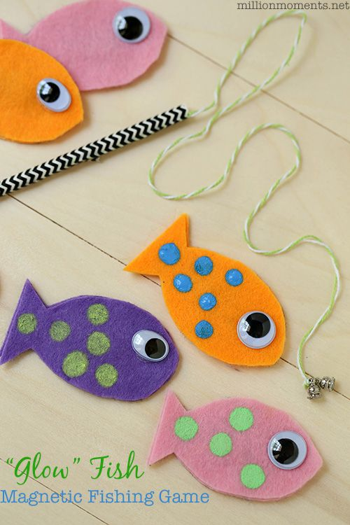 Easy diy magnetic fish game plus three more fun crafts for Easy fishing games