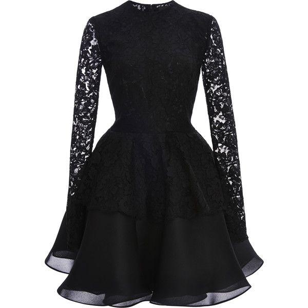 Cushnie et Ochs Lace With Silk Gazaar Dress ($1,995) found on Polyvore