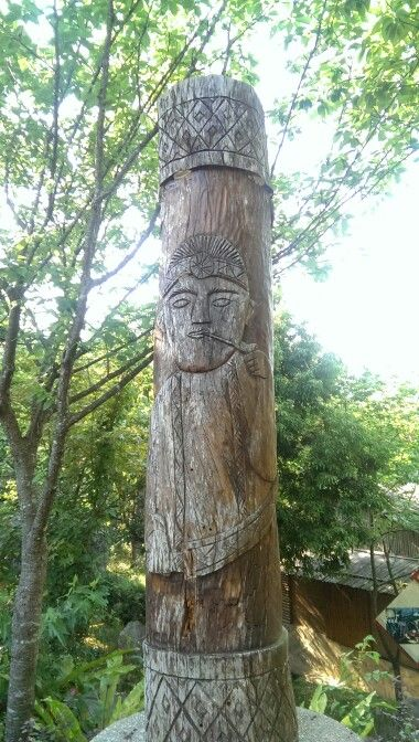Cool totem just outside of Nanzhuang