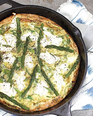 frittata with asparagus goat cheese and herbs more herbs frittata ...