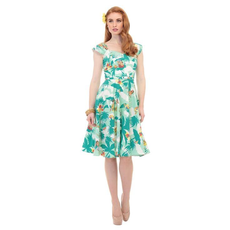 Aida Zak Sandra Hawaiian Print Dress