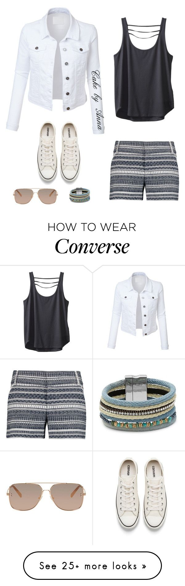 """""""Cake by anna"""" by cakebyanna on Polyvore featuring LE3NO, Converse, Alice + Olivia, Kavu, Design Lab and STELLA McCARTNEY"""