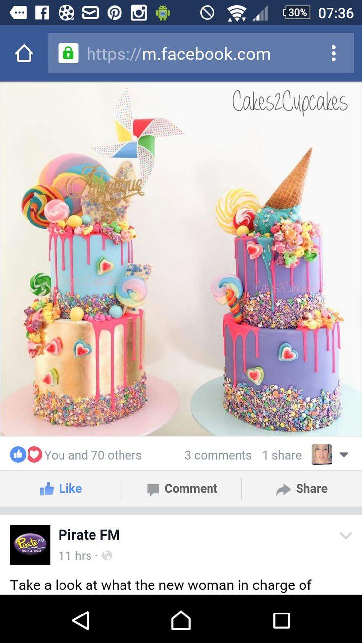 Bright Birthday Cakes