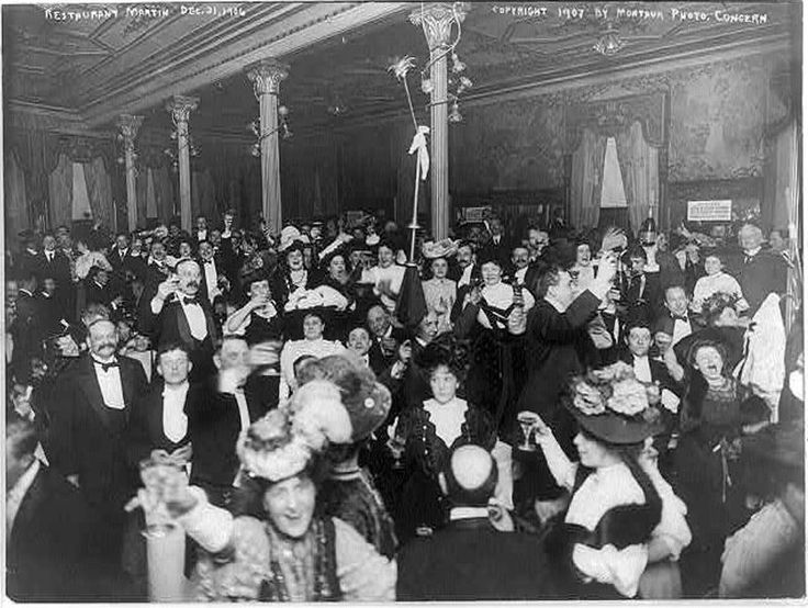 Vintage Photos Of New Year's Eve since 1876 New york new