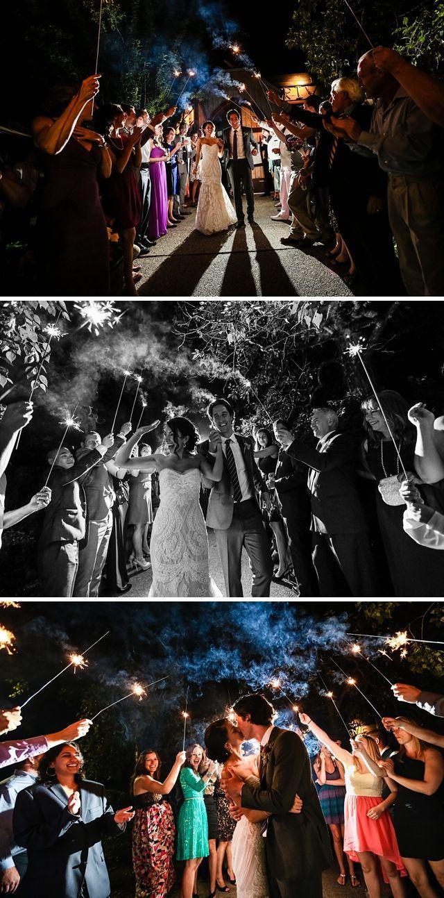 Calgary Wedding Venues | River Cafe Wedding Calgary. #SparklerExit