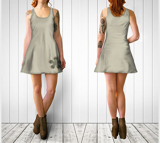 """Flare dress """"Camouflage Retro Flower Flare Dress"""" by Cori-Beth's Originals at Art of Where."""