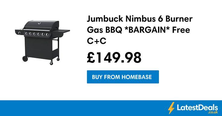 Jumbuck Nimbus 6 Burner Gas BBQ *BARGAIN* Free C+C, £149.98 at Homebase