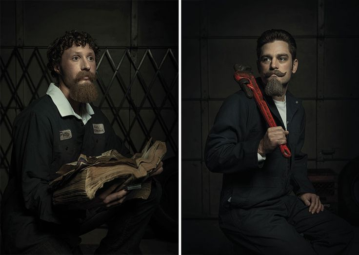 A series of 'Rembrandt-style' portraits | Auto mechanics pay homage to the legendary artworks of Renaissance painters