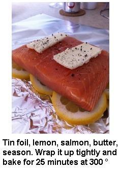 How to make salmon.