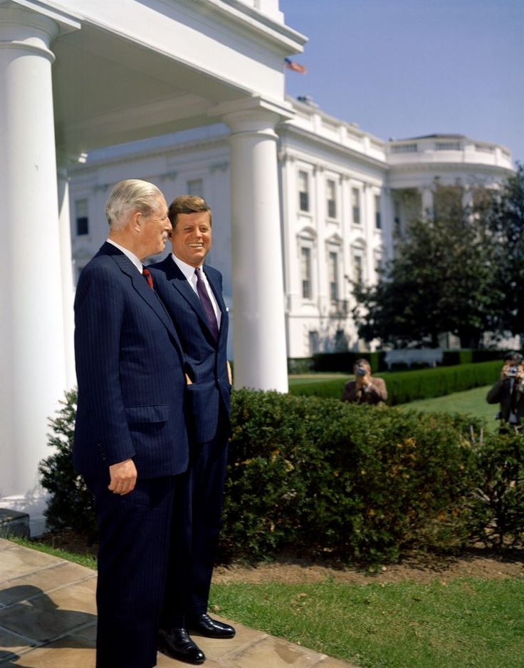 President John F. Kennedy meets with Prime Minister of Great Britain, April 5, 1961