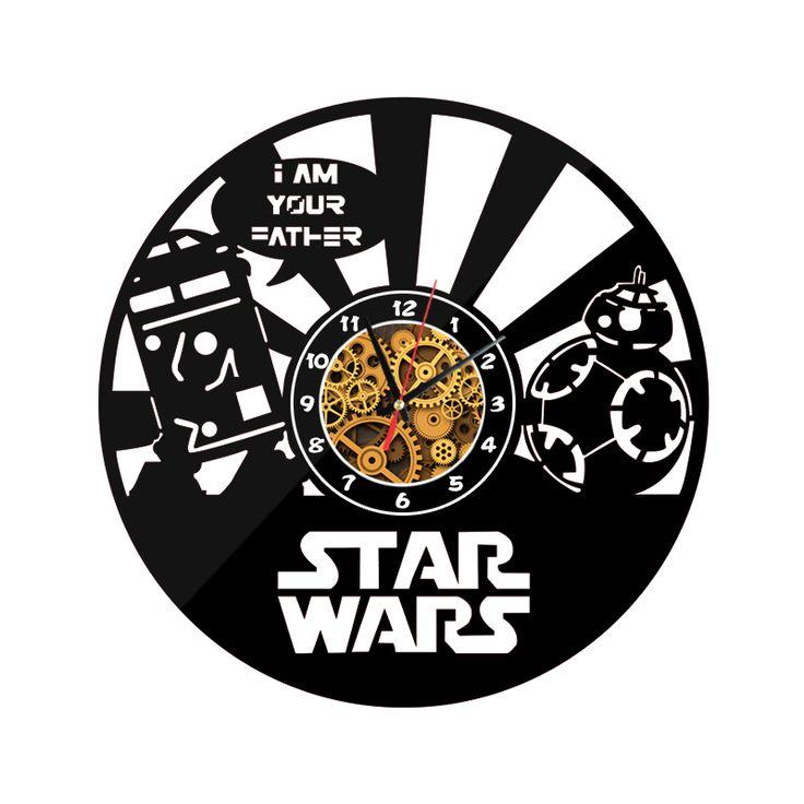 """New Star Wars Wall O'Clock """"im your father"""" //Price: $29.49 & FREE Shipping //     #starwarsday  #starwarsdaily  #starwarstattoo  #starwarsepisodevii"""