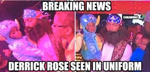 Derrick Rose in UNIFORM! - http://weheartchicagobulls.com/nba-funny-meme/derrick-rose-in-uniform
