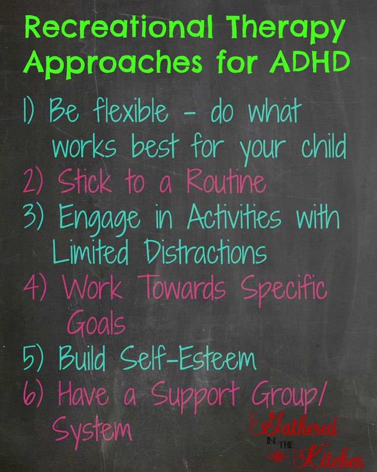 Recreational Therapy approaches to ADD / ADHD  ADD / ADHD Wellness Program | Gathered In The Kitchen