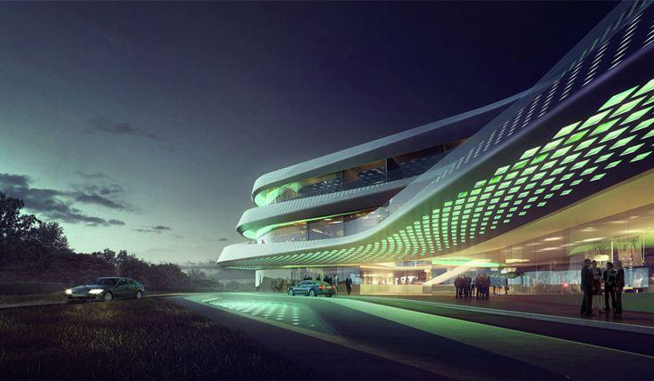 Green Climate Fund Headquarters / LAVA,main entrance - © MIR