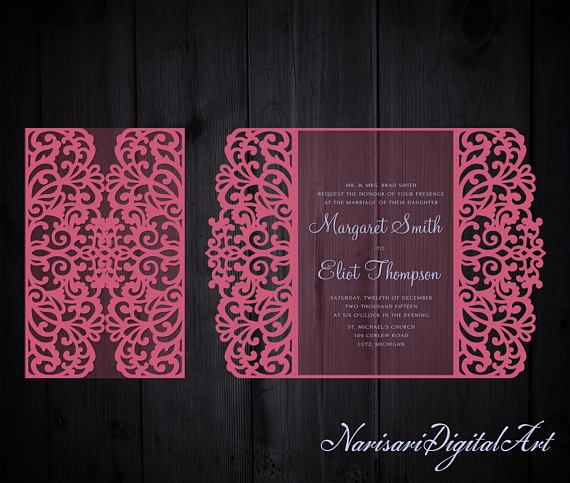 best images about laser cut wedding invitations on, invitation samples