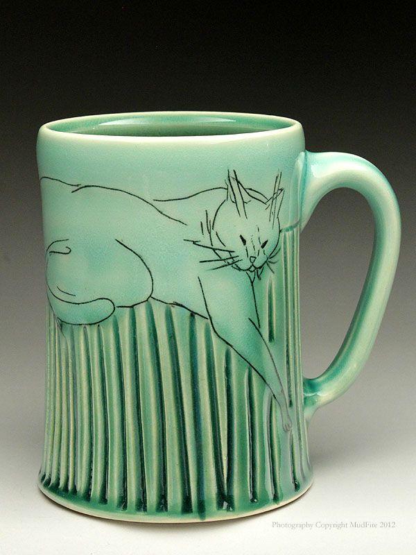 smart idea porcelain coffee mugs. green cat mug  Maria Andrade Troya Ceramics 94 best Beer mugs images on Pinterest Ceramic art Porcelain and