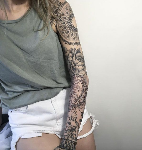 40 Attractive Sleeve Tattoos For Women Sleeve Tattoos For Women Feminine Tattoo Sleeves