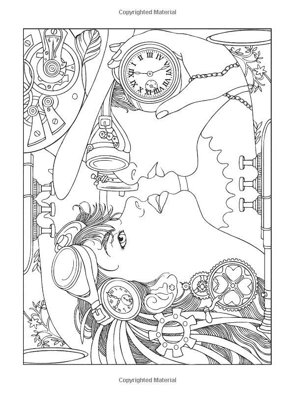 Elegant Design Coloring Book 91 Amazon Creative Haven Steampunk