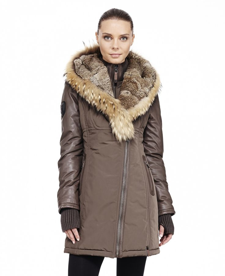 RUDSAK Parkas (KHAKI, MEMORY FABRIC WOVEN - LEATHER) | Grace-2013