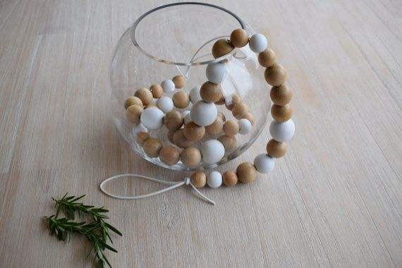 The 'Blossom' Wooden Bead Garland by TomTomDesignsNZ on Etsy