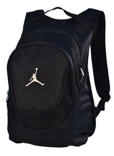 e977a3386ee7ec ... Jordan Nike Air Jumpman Backpack Book Bag-Black