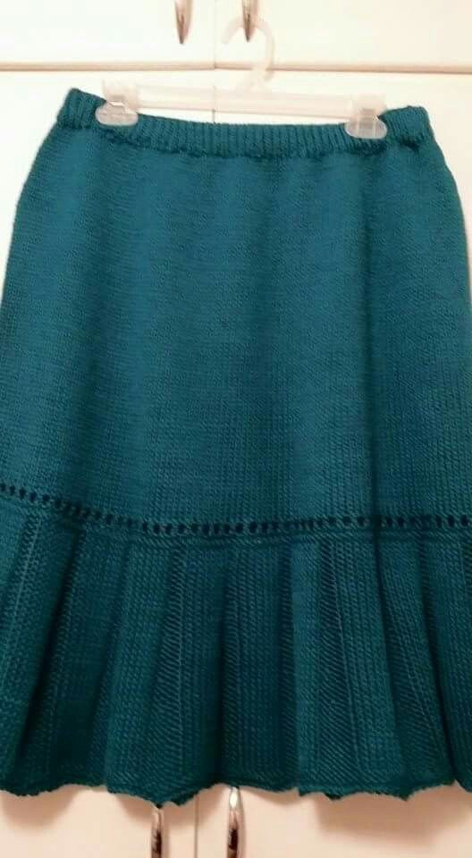 Little Flirt Skirt made with Cascade 220. Pattern on Ravelry.